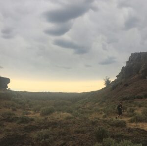 Exploring the wilds of eastern WA under an electric anvil cloud.